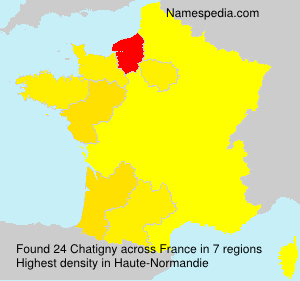 Surname Chatigny in France