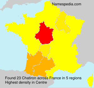 Surname Chatiron in France