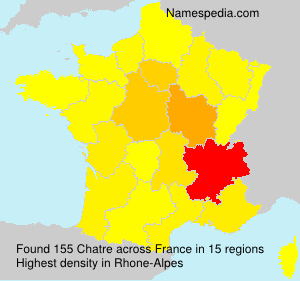 Surname Chatre in France