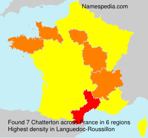 Surname Chatterton in France