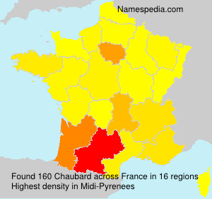 Surname Chaubard in France
