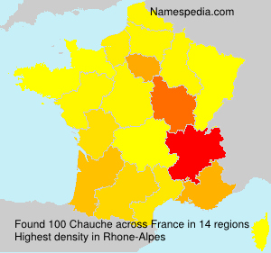 Surname Chauche in France