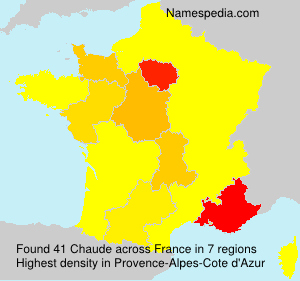 Surname Chaude in France