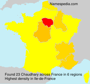 Surname Chaudhary in France