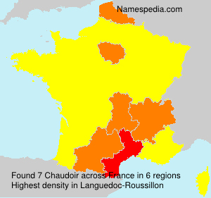 Surname Chaudoir in France