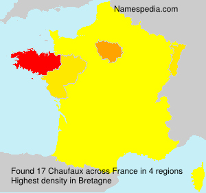 Surname Chaufaux in France