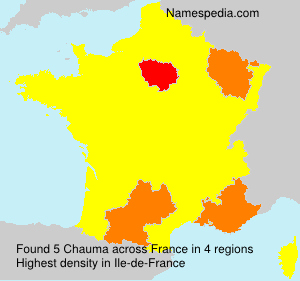 Surname Chauma in France