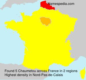 Familiennamen Chaumetou - France