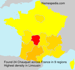 Surname Chauquet in France