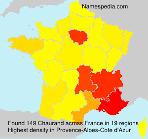 Surname Chaurand in France