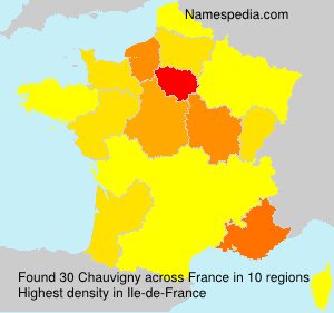 Surname Chauvigny in France