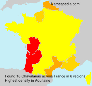 Surname Chavalarias in France