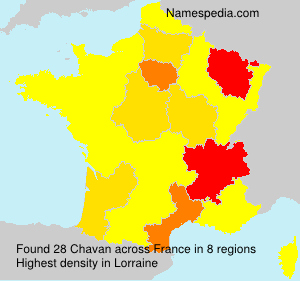 Surname Chavan in France