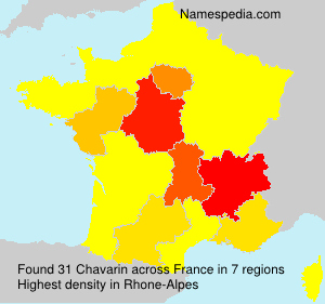 Surname Chavarin in France