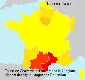 Surname Chavarria in France