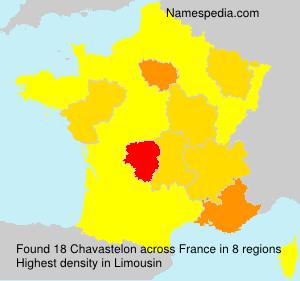 Familiennamen Chavastelon - France