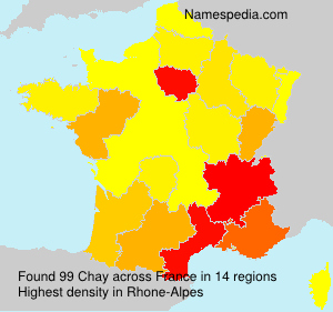 Surname Chay in France