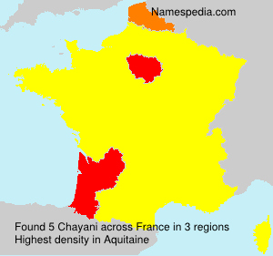 Surname Chayani in France