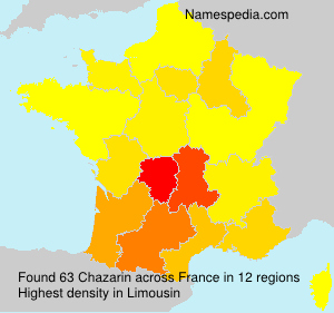 Surname Chazarin in France