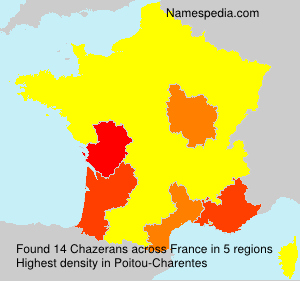 Surname Chazerans in France