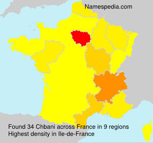 Surname Chbani in France