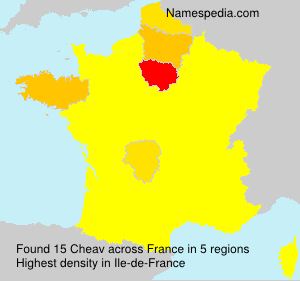 Surname Cheav in France