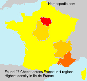 Surname Chebat in France