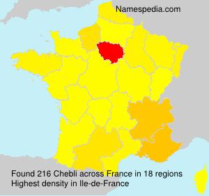 Familiennamen Chebli - France