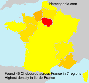 Surname Chebourou in France