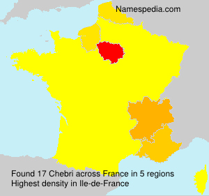 Surname Chebri in France