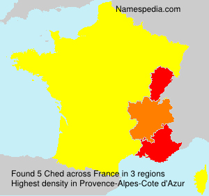 Surname Ched in France