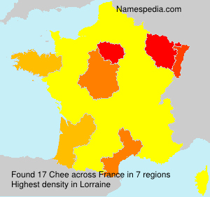 Surname Chee in France