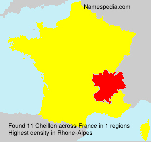 Surname Cheillon in France