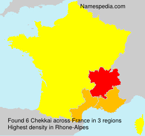 Surname Chekkai in France