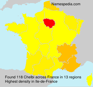 Surname Chelbi in France
