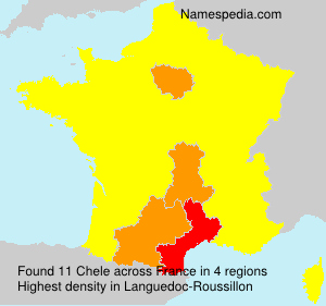 Surname Chele in France