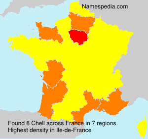 Surname Chell in France
