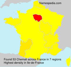 Surname Chemali in France
