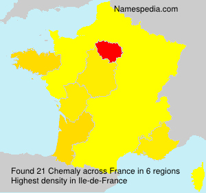 Surname Chemaly in France