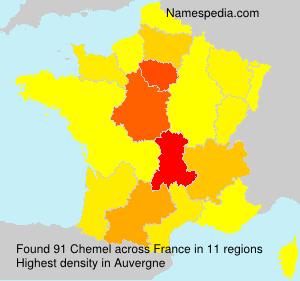 Familiennamen Chemel - France