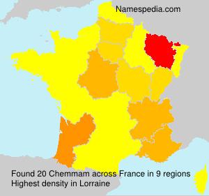 Surname Chemmam in France