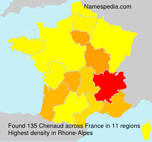 Surname Chenaud in France