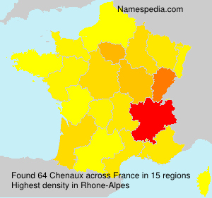 Surname Chenaux in France