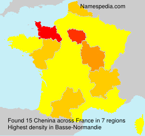 Surname Chenina in France
