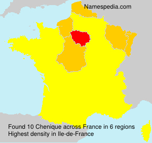 Surname Chenique in France