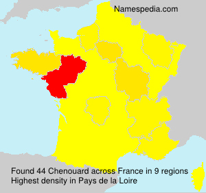 Surname Chenouard in France