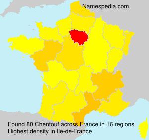 Familiennamen Chentouf - France