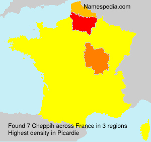 Surname Cheppih in France