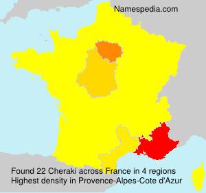 Surname Cheraki in France
