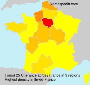 Surname Cherance in France